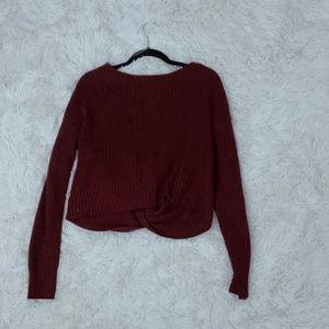 Ardene open back knit sweater